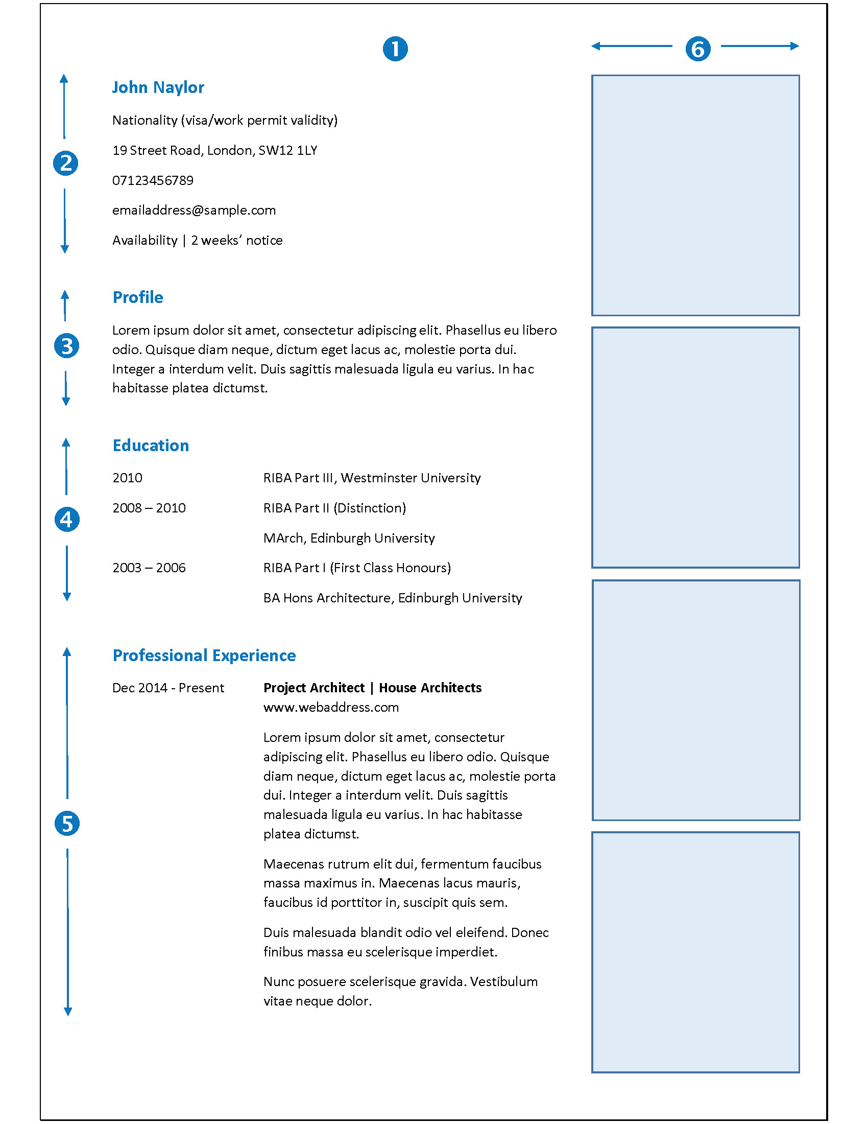 Sample Of Cv European Format